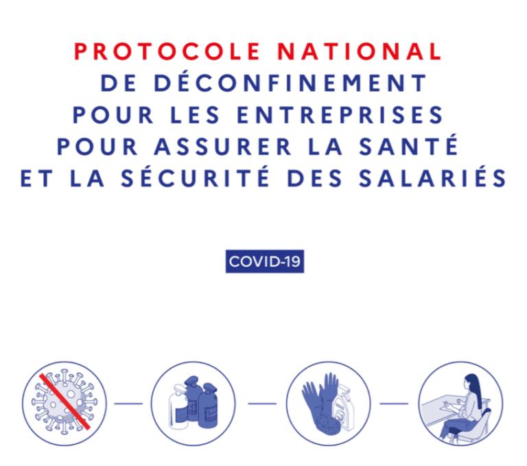 Vignette document Protocole national de déconfinement pour les entreprises pour assurer la sécurité et la santé des salariés
